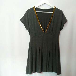 Grey Stud Top / Dress