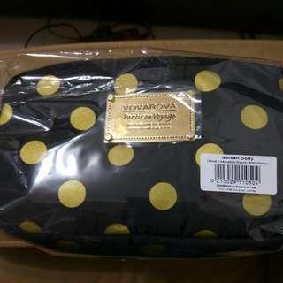 VOVAROVA空氣包-裝不滿化妝包-圓點系列-點點圓舞曲(金)-五週年紀念款