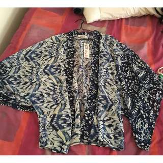 Blue patterned kimono BNWT