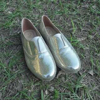 韓版包頭亮亮鞋