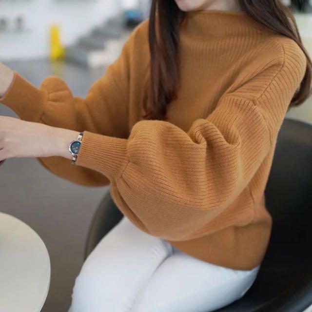 預購🔅燈籠袖寬鬆針織衫