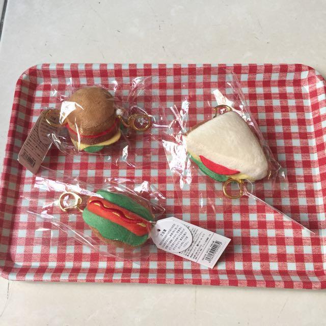 《日本帶回》三明治熱狗堡漢堡吊飾鑰匙圈