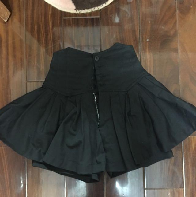 性感高腰排扣短褲裙