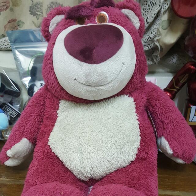 迪士尼購入 玩具總動員3 草莓熊 熊抱哥 (標籤還在有壓到)