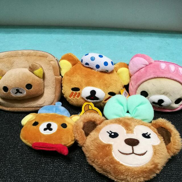 (消費滿500免費任選一個)零錢包 懶懶熊