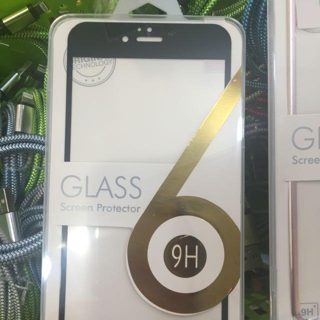 全新 iPhone 6 iPhone 7 Plus 滿版玻璃保護貼 黑色 白色