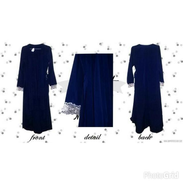 BARU! Dark Blue Renda Outer MURAH!!!