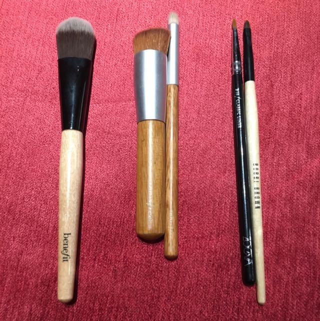 Benefit + Innisfree + Zoeva + Bobbi Brown Brushes