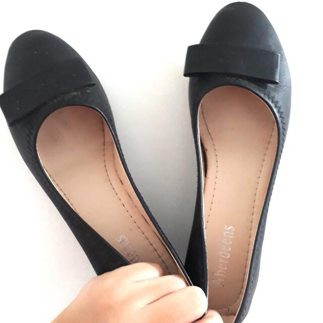 Black Wedge Shoes
