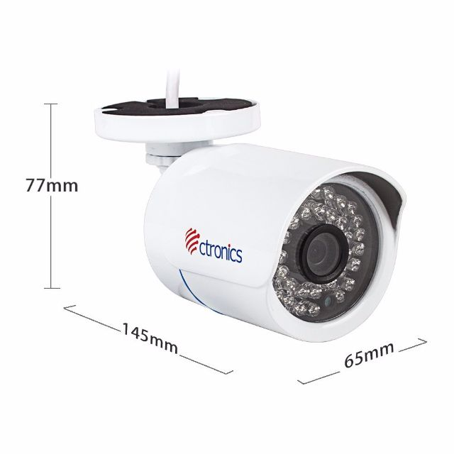 (BNIB) Ctronics Bullet WiFi IP Camera HD 720p 30m IR 3 6mm Lens Onvif 2 0  36 LEDs Night Vision Indoor & Outdoor CTIPC-245C720PWS (Brand New Boxed)