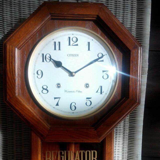 Citizen Westminster Chime Quartz Wall Clock, Furniture, Home