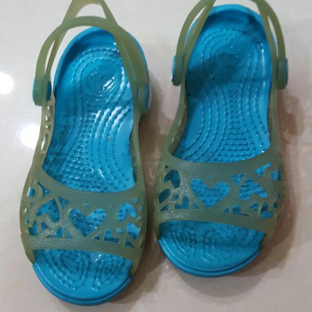 [二手]crocs卡駱馳女童涼鞋17cm