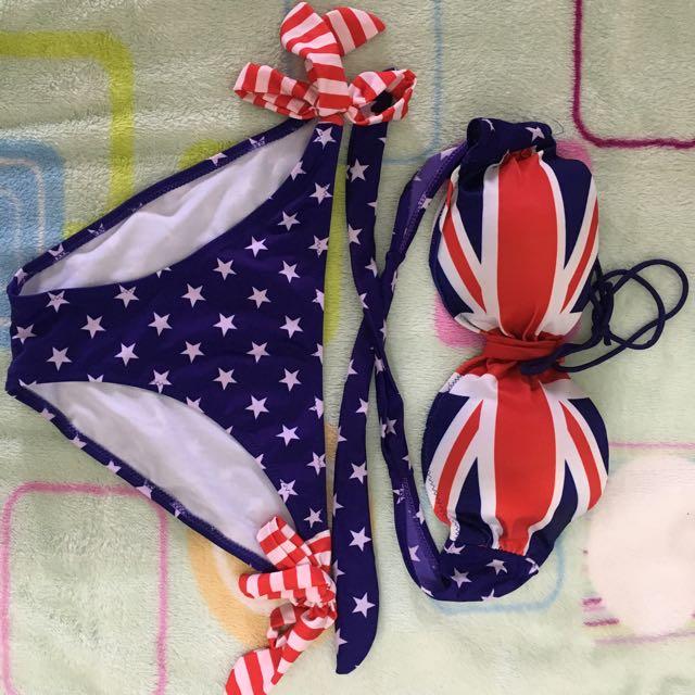 England Flag Bikini Set