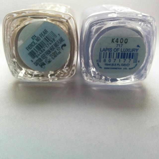 Essie Nail Polish Bundle in Fierce no Fear and Lapis of Luxury