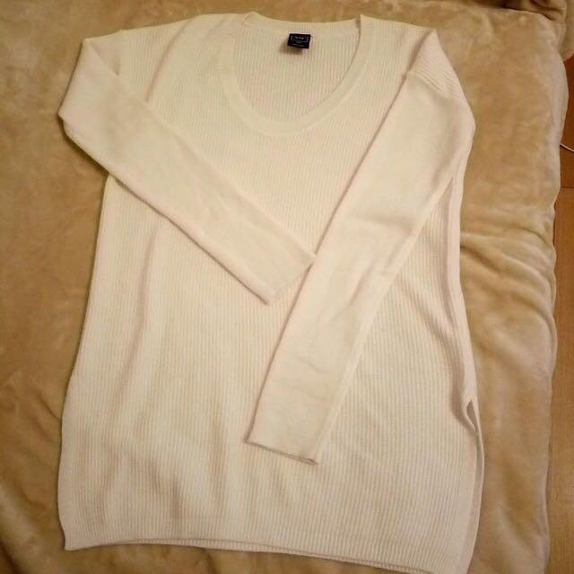 GAP低領側開叉針織毛衣