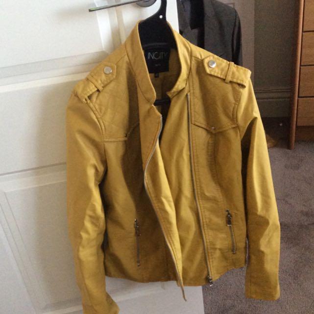 Girls Synthetic Leather Jacket