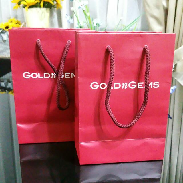 GOLDnGEMS Paper Bag