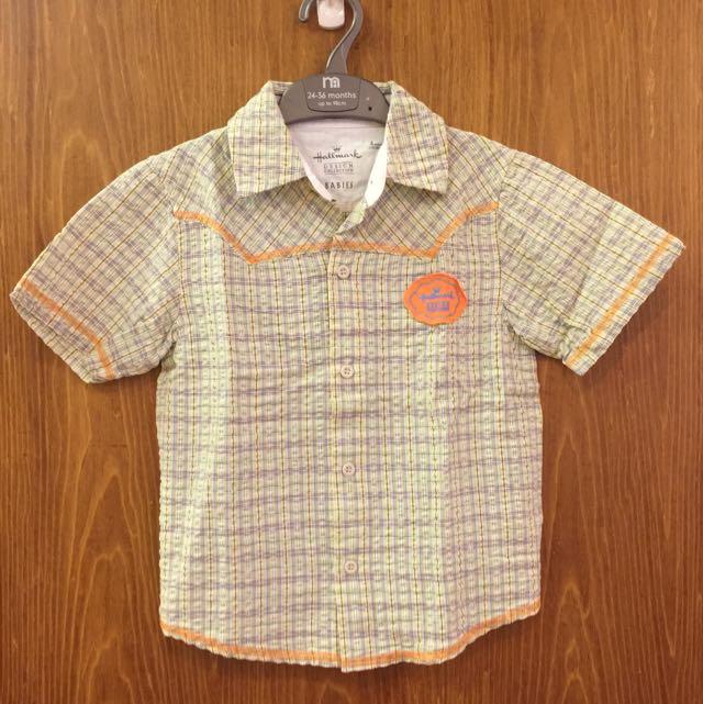 Hallmark 男童襯衫。4歲110公分