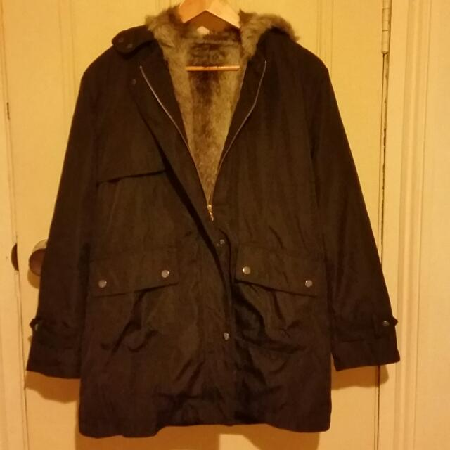 Jacket With Faux Fur Inside