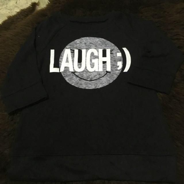 Justice Black Smile Shirt