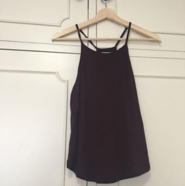 Kookai Strappy Top - Plum Colour