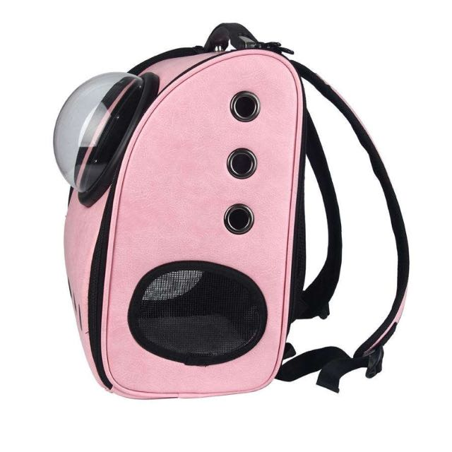 8a97ea91c8 Leegoal Innovative Capsule Pet Carrier Soft Sided Breathable Travel Cat  Backpack Bag For Cats And Dogs-Pink, Pet Supplies, Pet Accessories on  Carousell