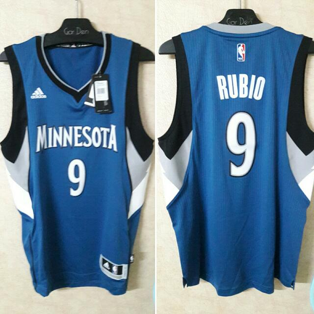 【NBA球衣】Rubio灰狼二客藍