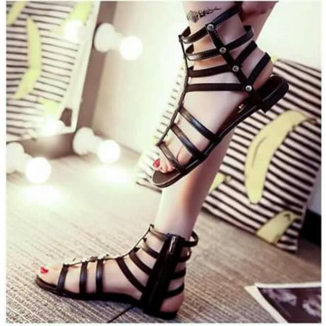 💕New Arrival U.S Styled Leather Zipper-up Gladiator Sandals💕