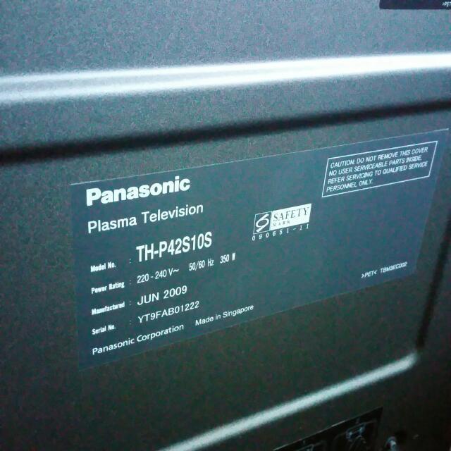 Panasonic Tv Viera 42 Palsma Tv
