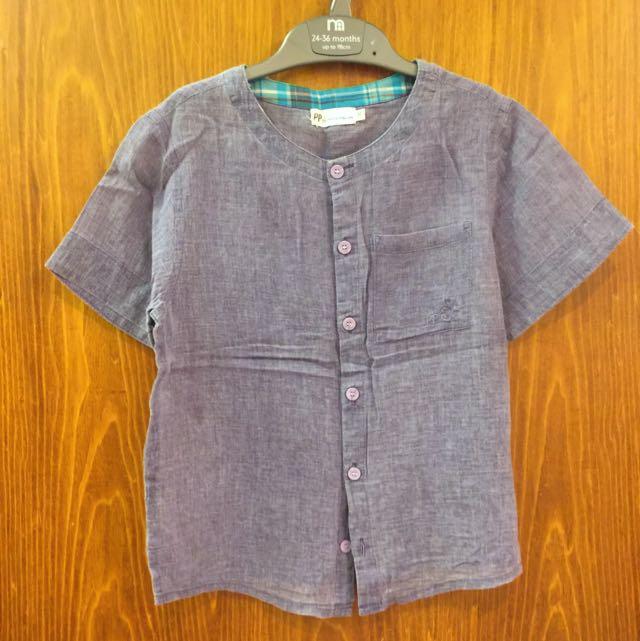 PIPPY ITALIAN 男童超細緻純棉上衣。120公分及130公分各一件。