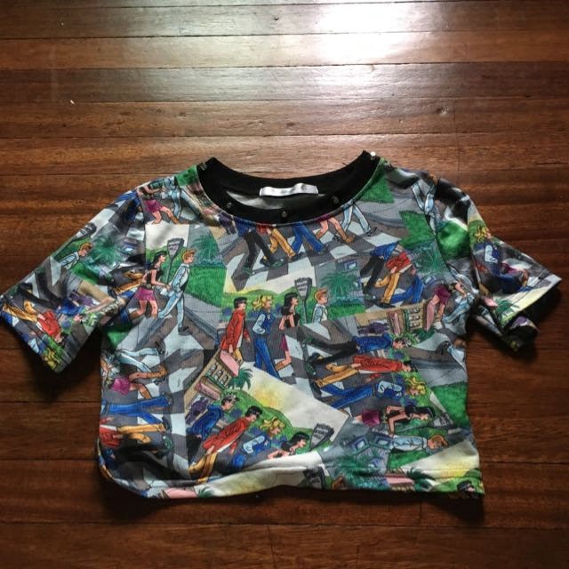 Pre Loved Archie Print Cropped Top