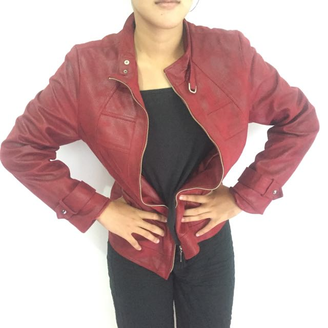 Red Leather Jacket (Jaket Kulit)