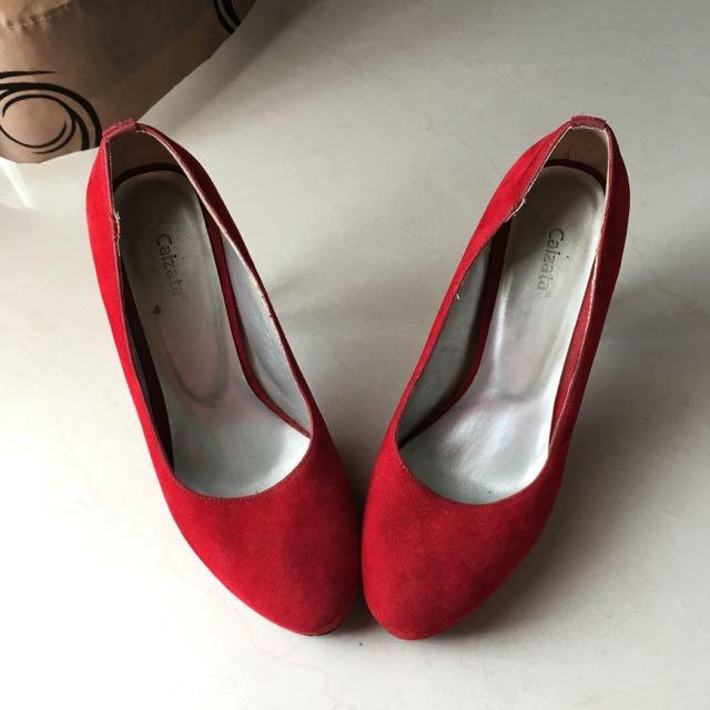Red Pump Heels