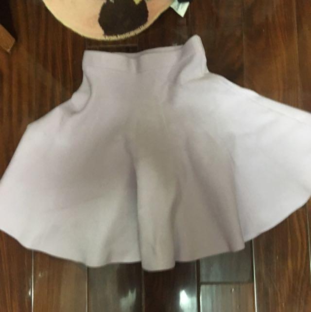 Snidel紫色甜蜜感短裙圓裙