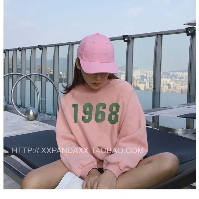 全新粉色棉T