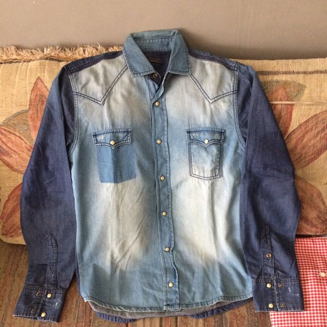 bddba58cc5e Zara Man Denim Jeans Shirt Collection Size M