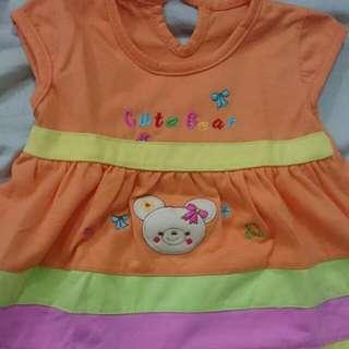 Dress Midi Bayi 3-9bln Bahan Cotton Adem