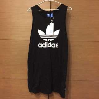 adidas 洋裝 背心 長版洋裝