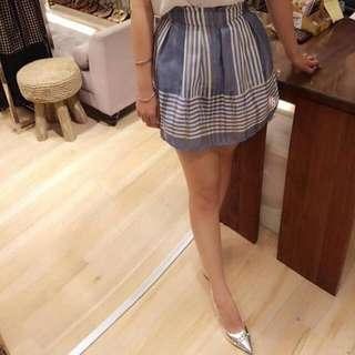 韓 水藍 褲裙