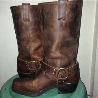 Brown Mossimo Leathet Boots Size 8 Women