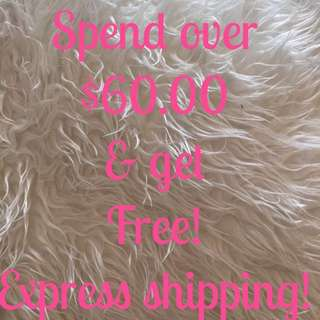 Free Express Shipping On All Orders Above $60.00