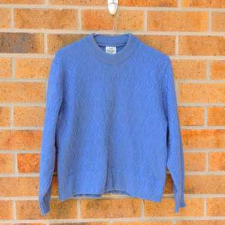 Vintage Blue Knit Jumper