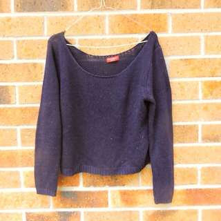 Navy Knit Jumper