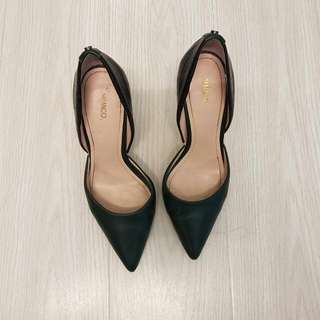 Mimco Green And Black Heels