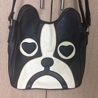 Dog Face Messenger Sling Bag