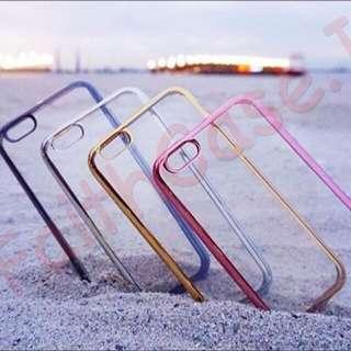 Case Chrome Clear Transprant Samsung Iphone
