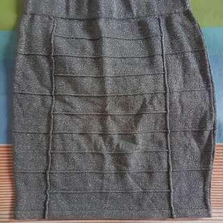 Silver-gray Bandage Skirt