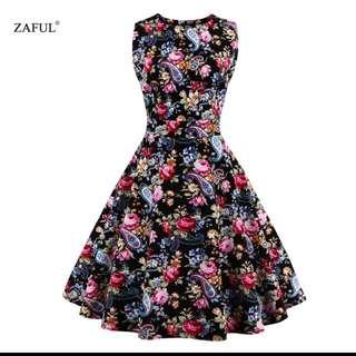 4x Floral 1950s Style Vintage Dresses