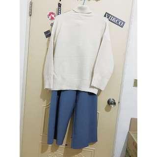 starmimi/西裝款褲(藍色)