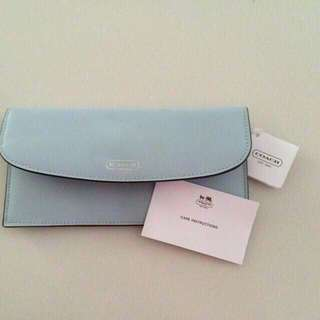 6295f15efed4 Brand New Baby Authentic Blue Coach Leather Wallet (with Tag)
